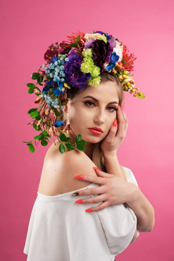 studio portret kwiaty art 4
