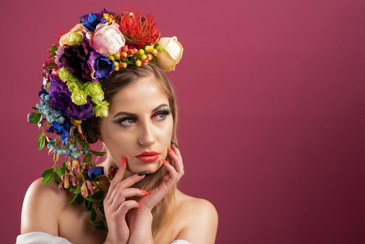 studio portret kwiaty art klaudia