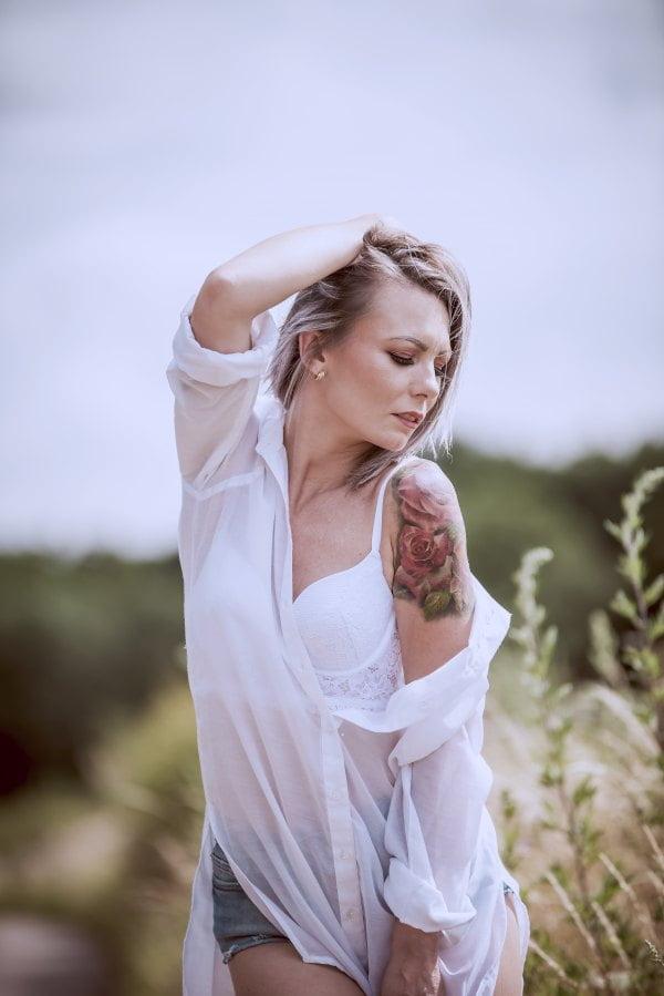 3512 biala koszula tatoo